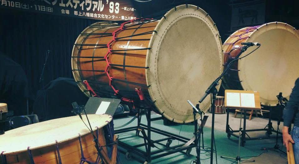 Taiko recording session